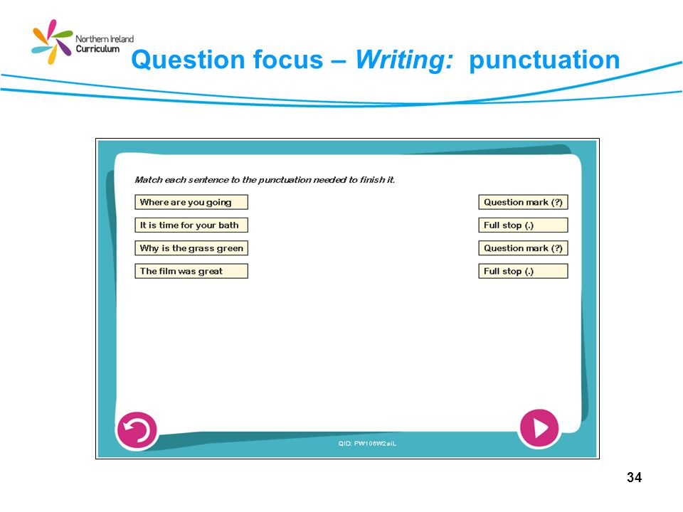 Question focus – Writing: punctuation 34