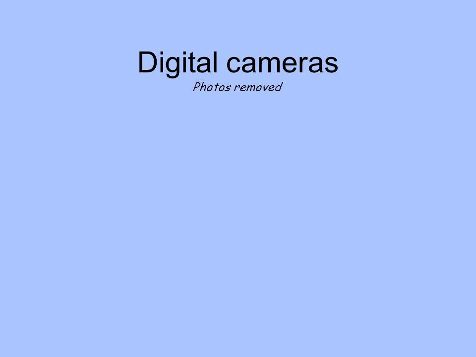 Digital cameras Photos removed