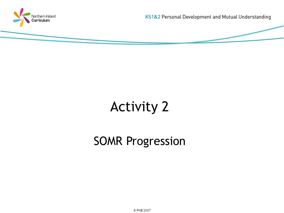 © PMB 2007 Activity 2 SOMR Progression
