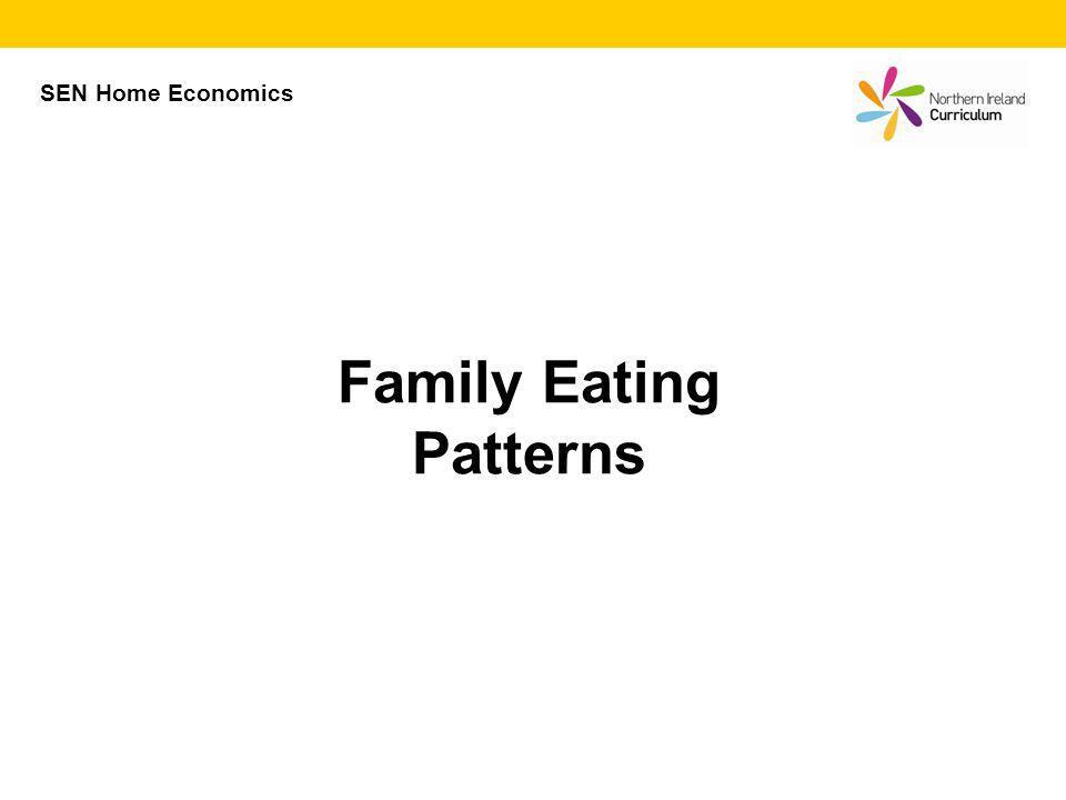 Family Eating Patterns SEN Home Economics