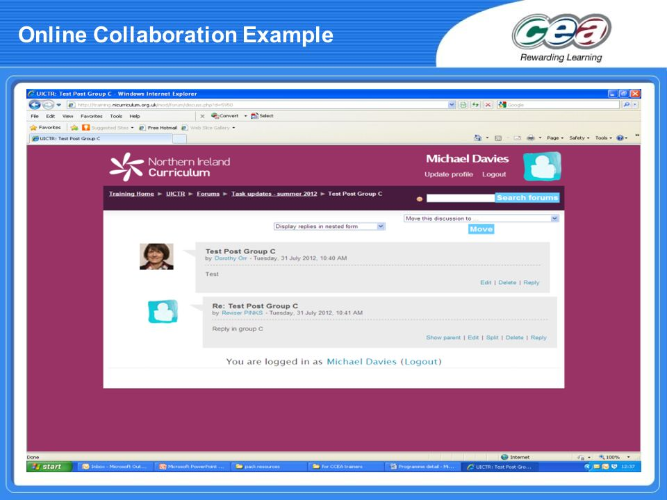 Online Collaboration Example