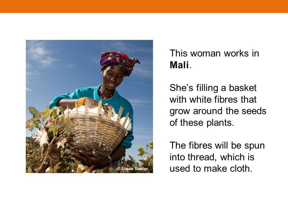 This woman works in Mali.