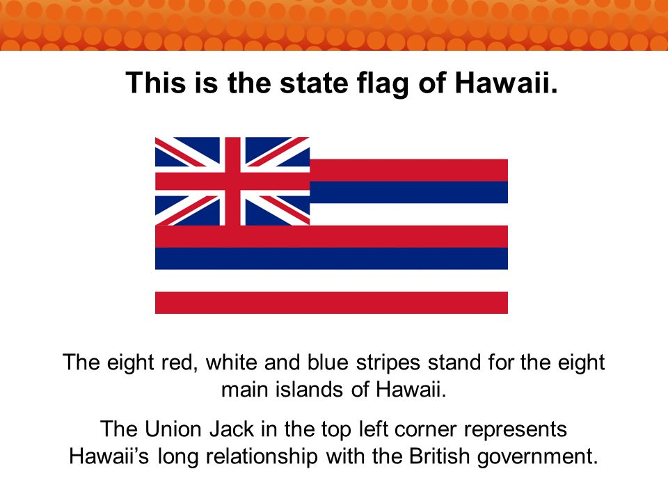 This is the state flag of Hawaii.