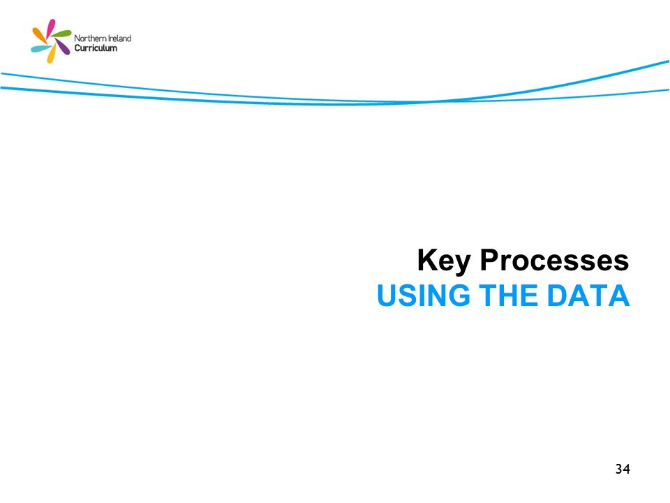 34 Key Processes USING THE DATA