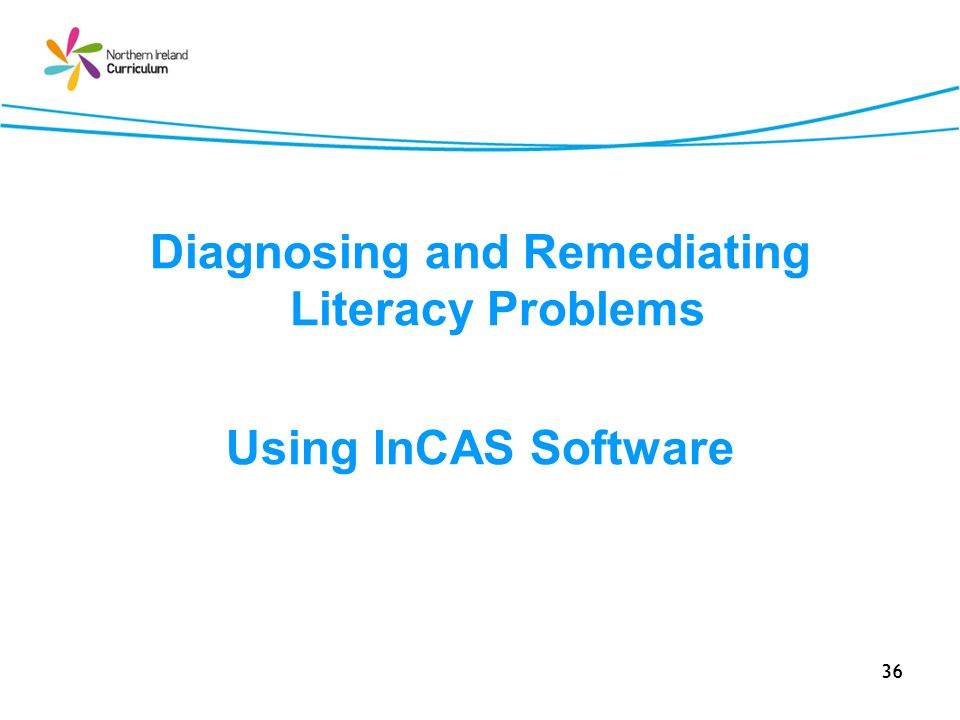 36 Diagnosing and Remediating Literacy Problems Using InCAS Software