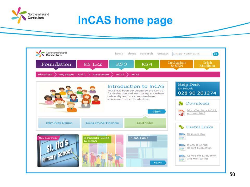 50 InCAS home page