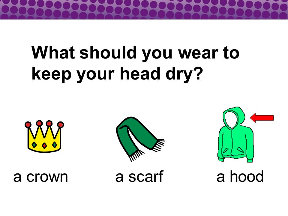 What should you wear to keep your head dry a crowna hooda scarf