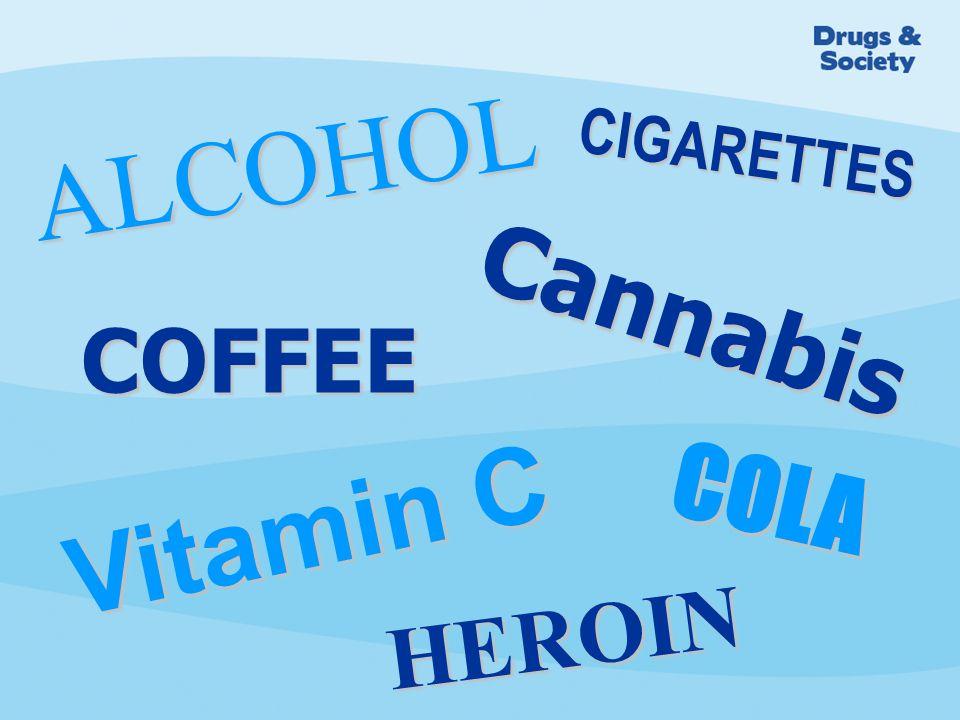 COFFEE COLA CIGARETTES ALCOHOL Vitamin C HEROIN Cannabis