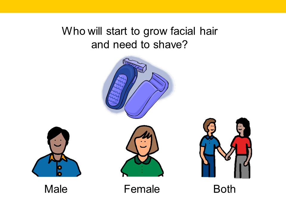 Male Female Both Who will develop underarm hair?