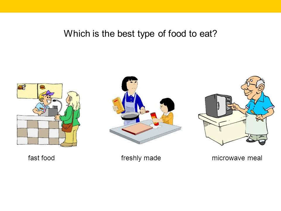 Which is the best type of food to eat? microwave mealfast foodfreshly made