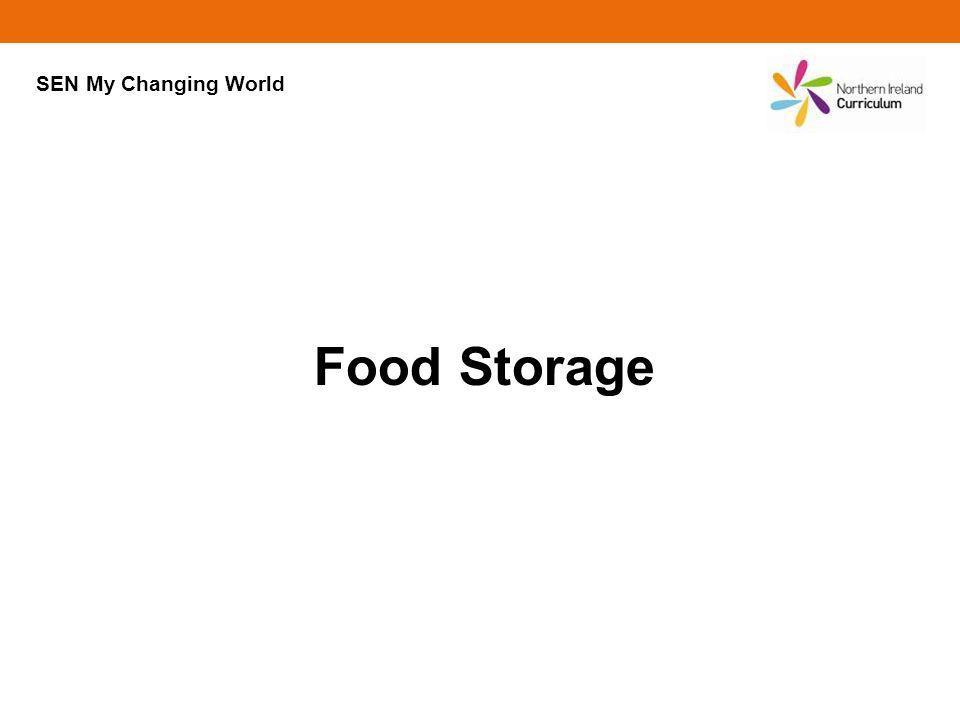 Food Storage SEN My Changing World
