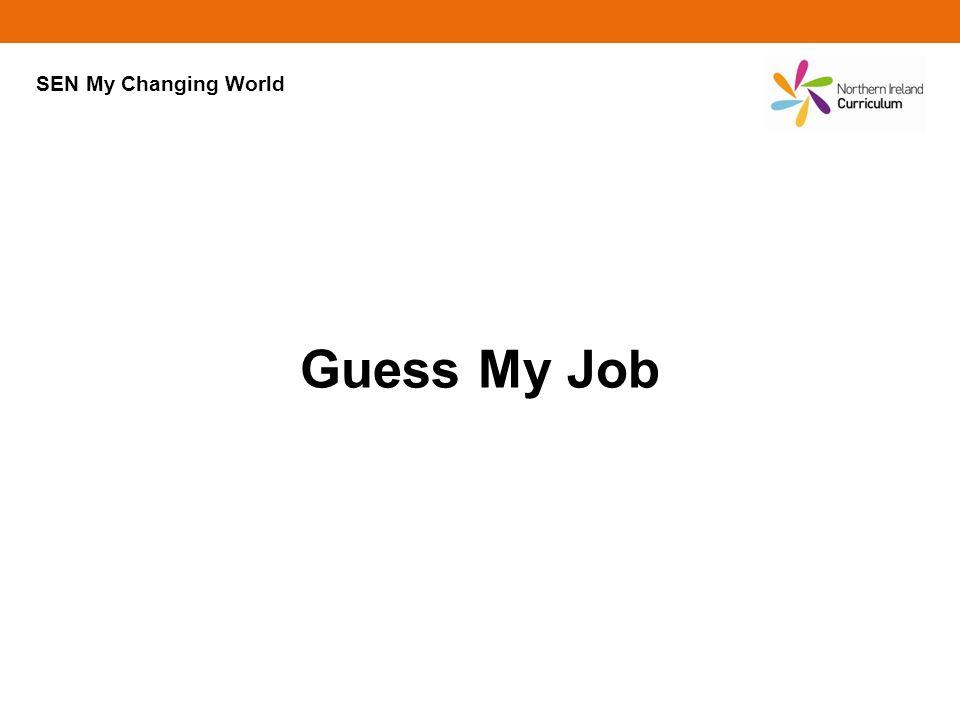 Guess My Job SEN My Changing World
