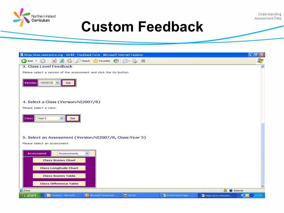 Understanding Assessment Data Custom Feedback