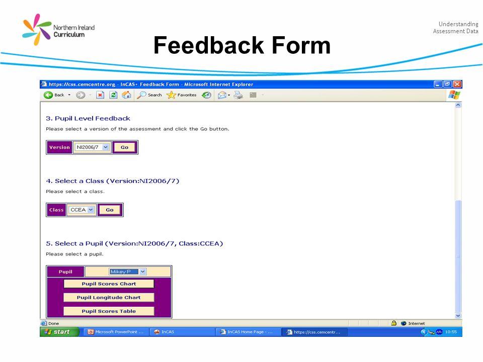 Understanding Assessment Data Feedback Form