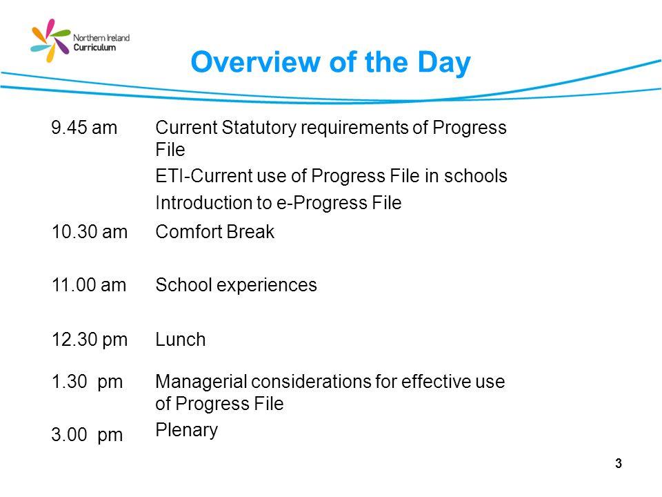 Session 1 The Progress File 4
