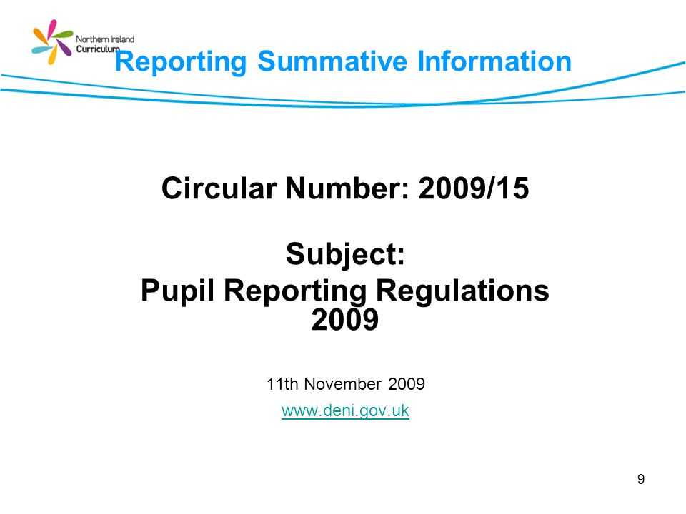 Progress File Reporting summative information in the final years of key stage 4 and sixth form: Schools are required to ensure that the following information is included in addition to the annual report : any qualification, award or certificate gained by a pupil, including any credit towards a qualification that a pupil has received from the school, or on behalf of the school via another provider…..