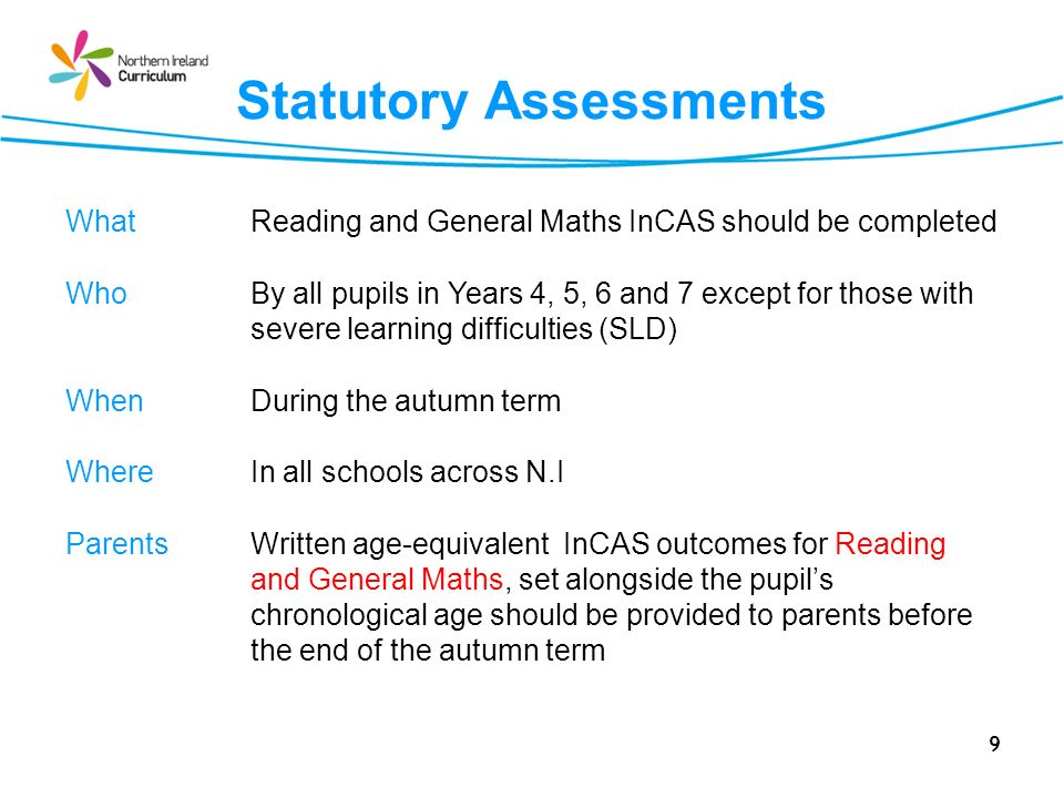 30 Session 3 Guidance for Using InCAS with Pupils who have SEN