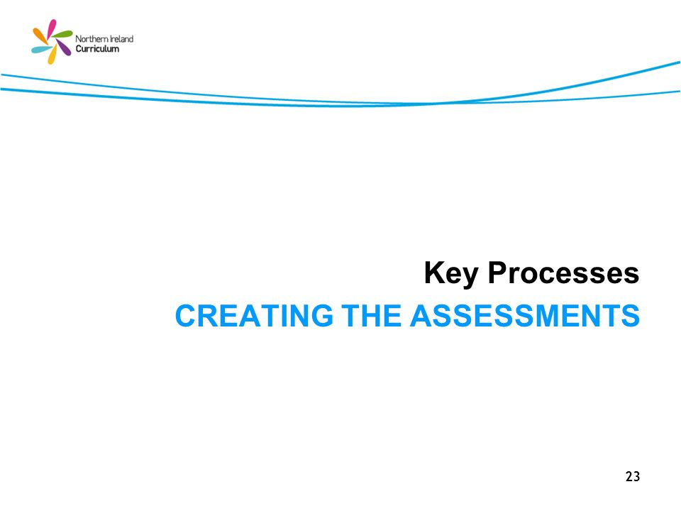 23 Key Processes CREATING THE ASSESSMENTS