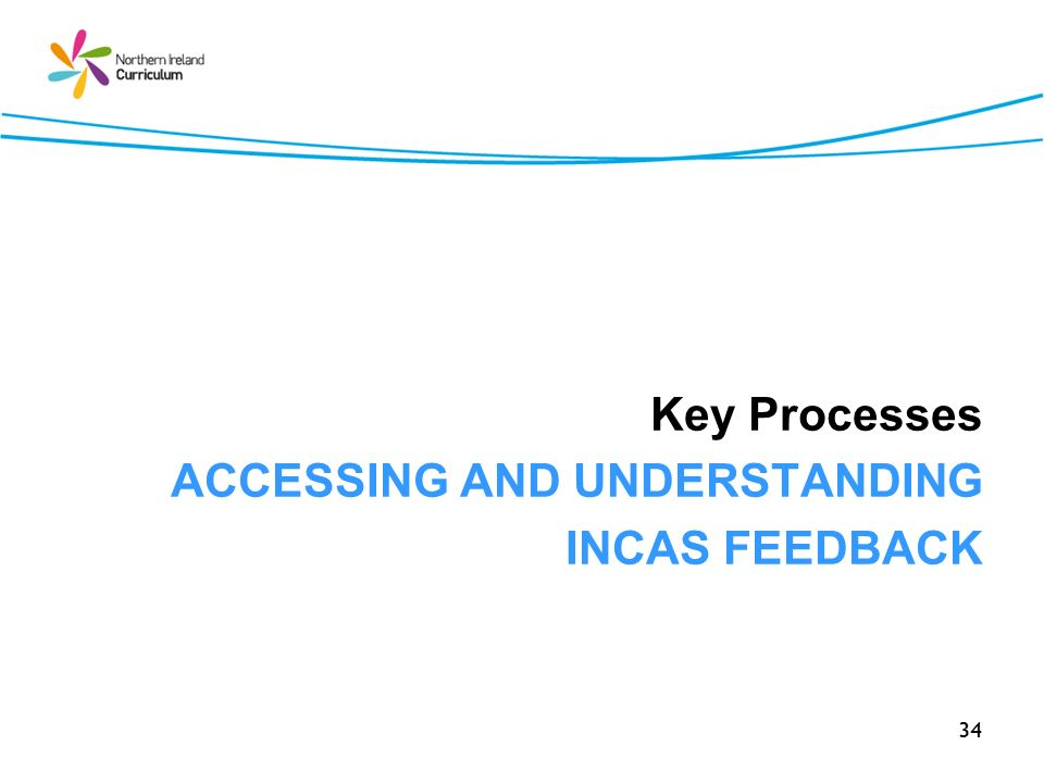 34 Key Processes ACCESSING AND UNDERSTANDING INCAS FEEDBACK