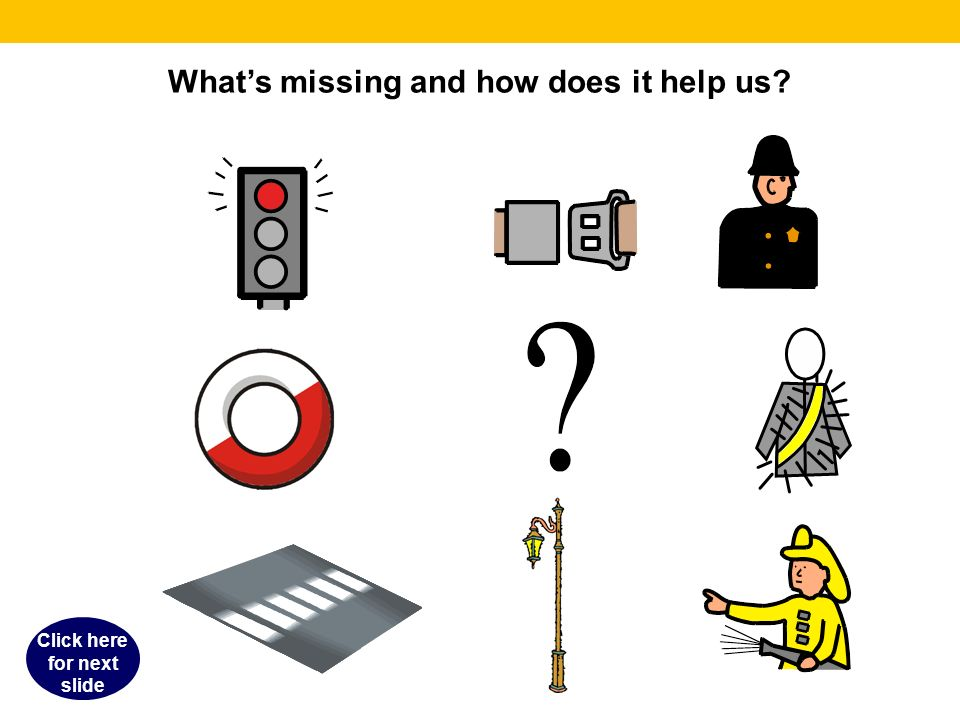 Whats missing and how does it help us Click here for next slide