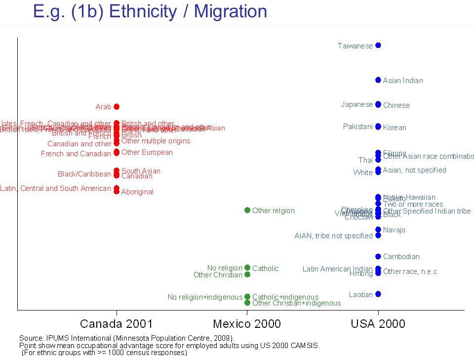 14 E.g. (1b) Ethnicity / Migration