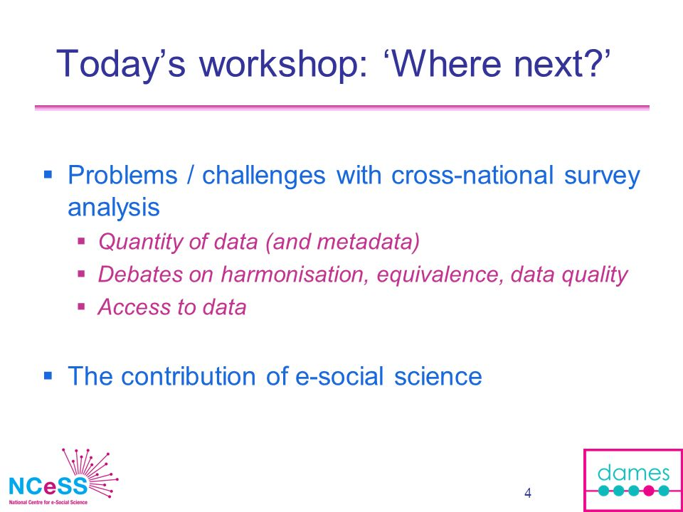 25 Possible explanations E-science tools and services too heavyweight compared to ad hoc sharing solutions Overheads in adopting e-Science tools (cf.