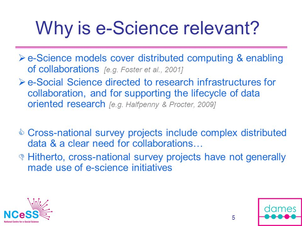 6 Part 1: What is e-Social Science doing for cross-national survey research.