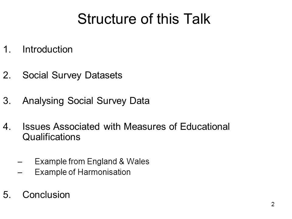 3 Measuring Educational Qualifications the question of how to measure education and qualifications – or indeed what measure means – raises interesting issues…Since there is no agreed standard way of categorising educational qualifications (Prandy, Unt & Lambert 2004)