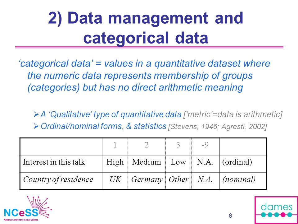 7 Categorical data is important..