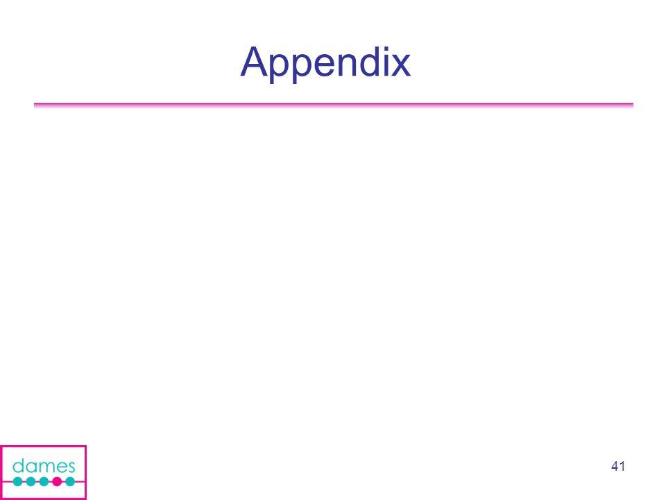 41 Appendix