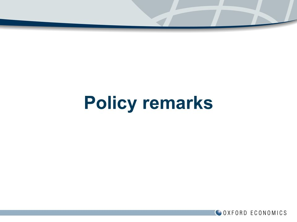 Policy remarks