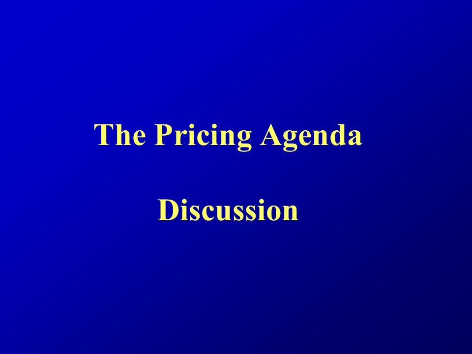 The Pricing Agenda Discussion