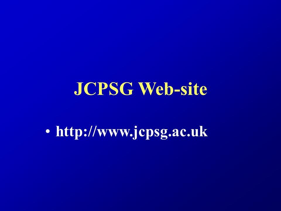 JCPSG Web-site http://www.jcpsg.ac.uk