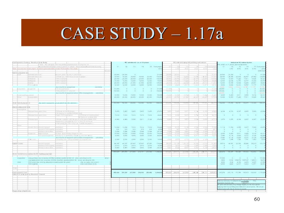 60 CASE STUDY – 1.17a