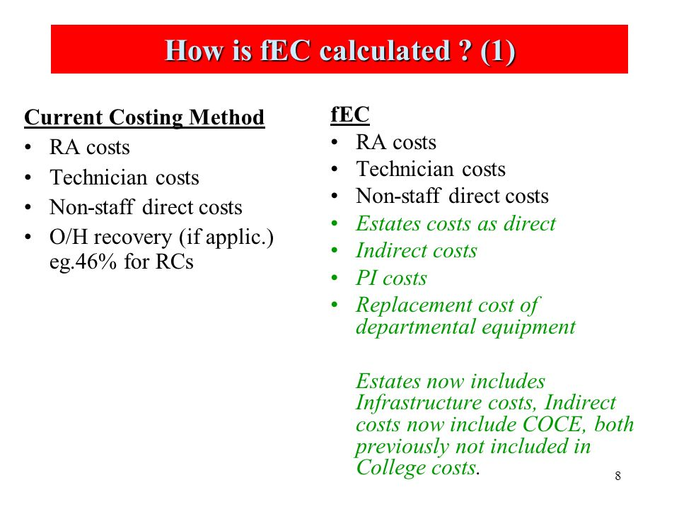 8 How is fEC calculated .