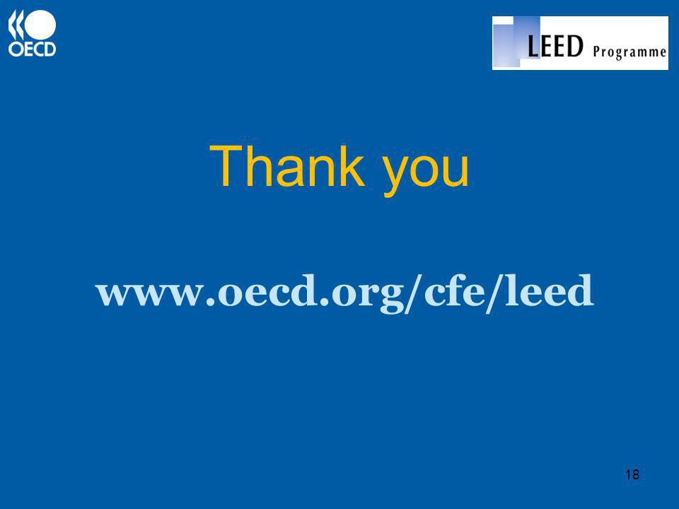 Thank you www.oecd.org/cfe/leed 18