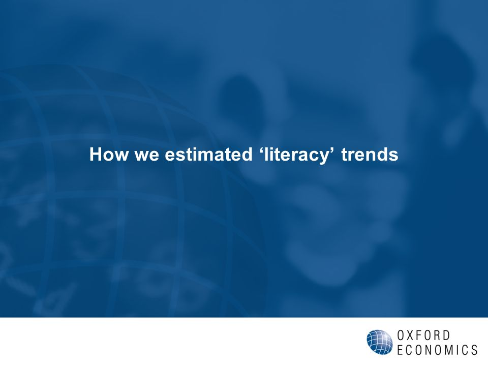 How we estimated literacy trends