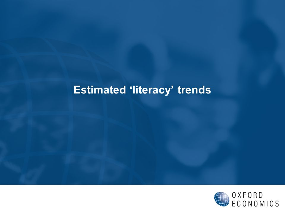 Estimated literacy trends
