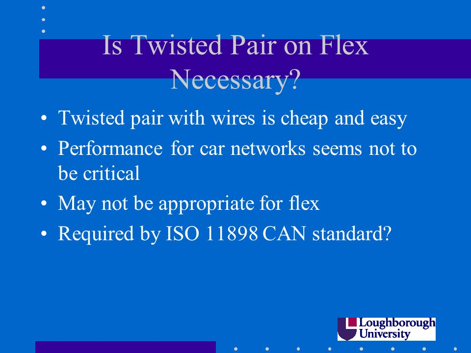 Is Twisted Pair on Flex Necessary.