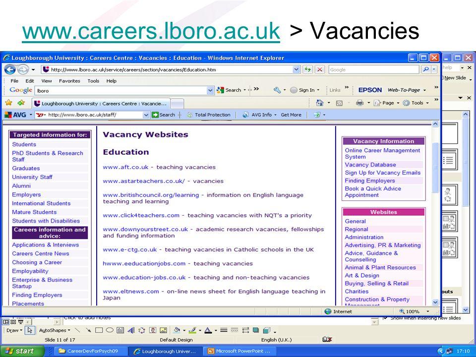 www.careers.lboro.ac.ukwww.careers.lboro.ac.uk > Vacancies