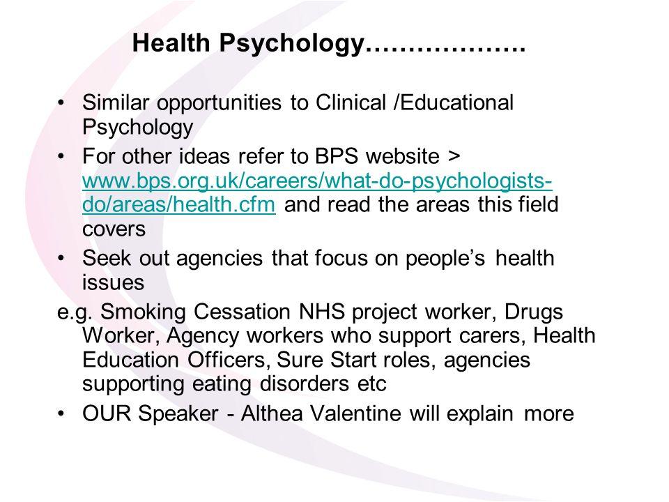 Health Psychology……………….