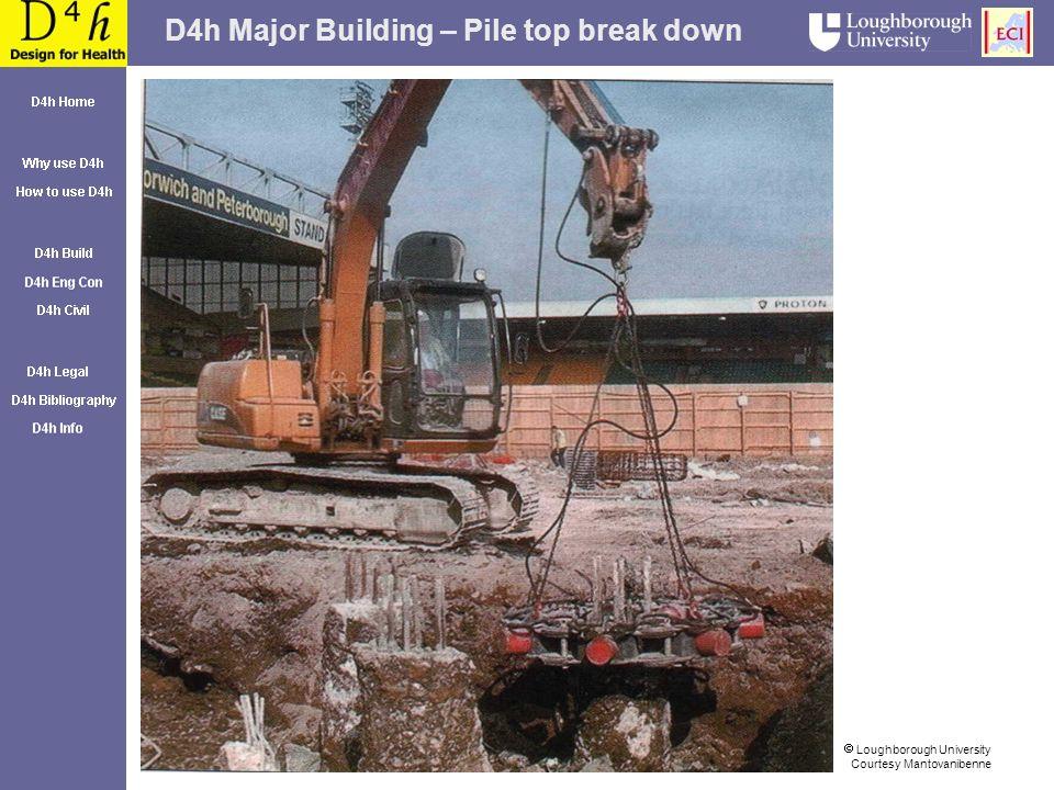 D4h Major Building – Pile top break down Loughborough University Courtesy Mantovanibenne