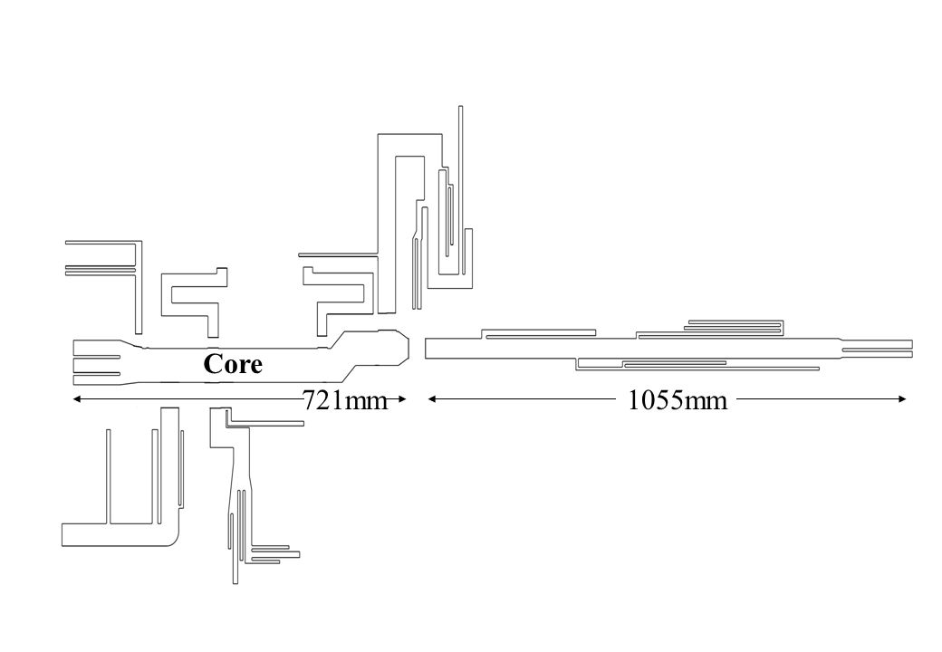 Core 721mm1055mm