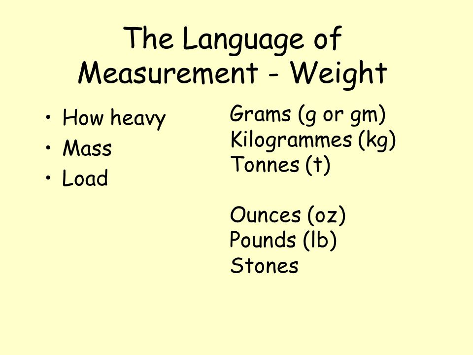 The Language of Measurement - Time How long ? When ? What time is it ? Seconds (and sub-divisions) Minutes Hours Days Weeks (+ fortnights) Months Year