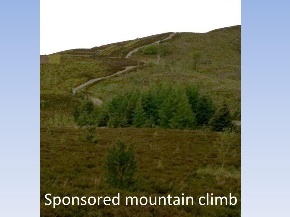 Sponsored mountain climb