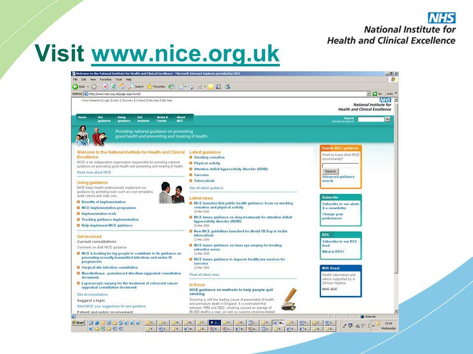 Visit www.nice.org.ukwww.nice.org.uk