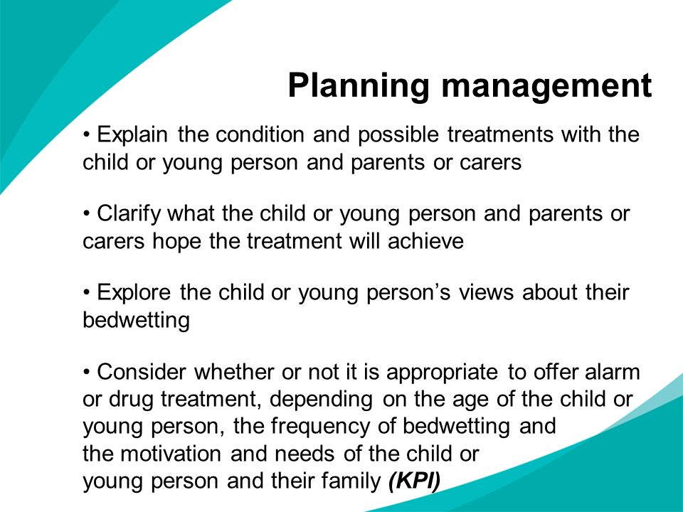 Explain the condition and possible treatments with the child or young person and parents or carers Clarify what the child or young person and parents