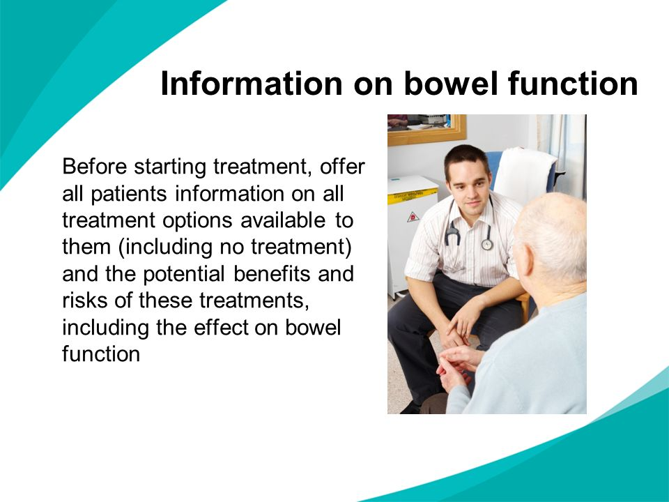 Before starting treatment, offer all patients information on all treatment options available to them (including no treatment) and the potential benefi