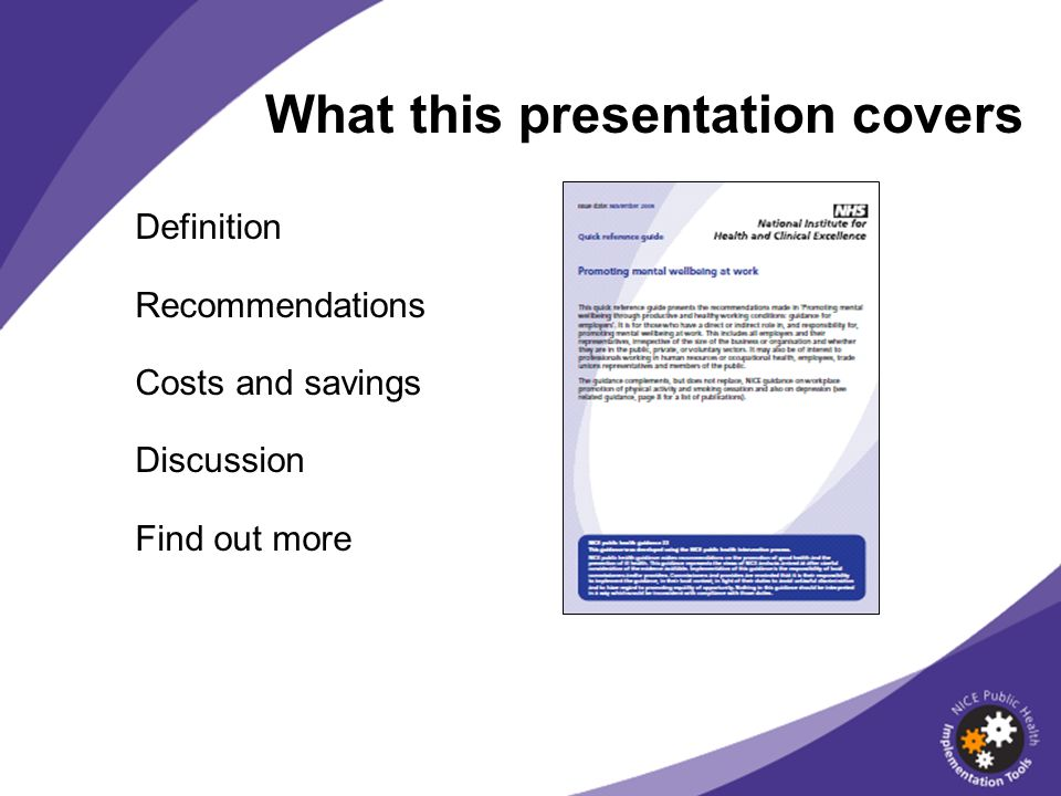 What this presentation covers Definition Recommendations Costs and savings Discussion Find out more