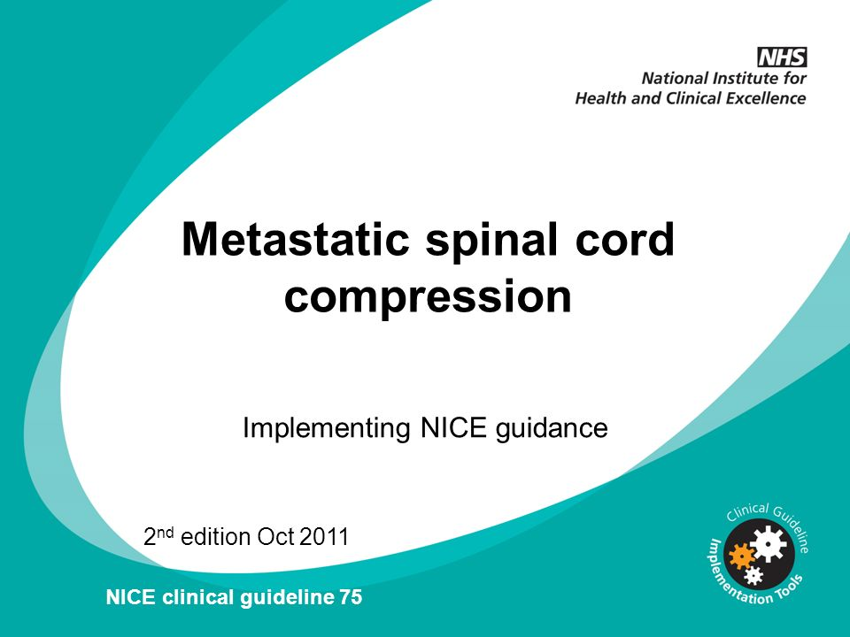 Carefully plan surgery to maximise the probability of preserving spinal cord function without undue risk to the patient, taking into account their overall fitness, prognosis and preferences Treatment of spinal metastases and MSCC: 3